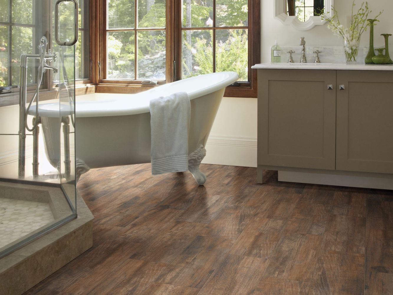 Shaw Floors Home Fn Gold Ceramic Ventura 7×22 Brown 00700_TGP58