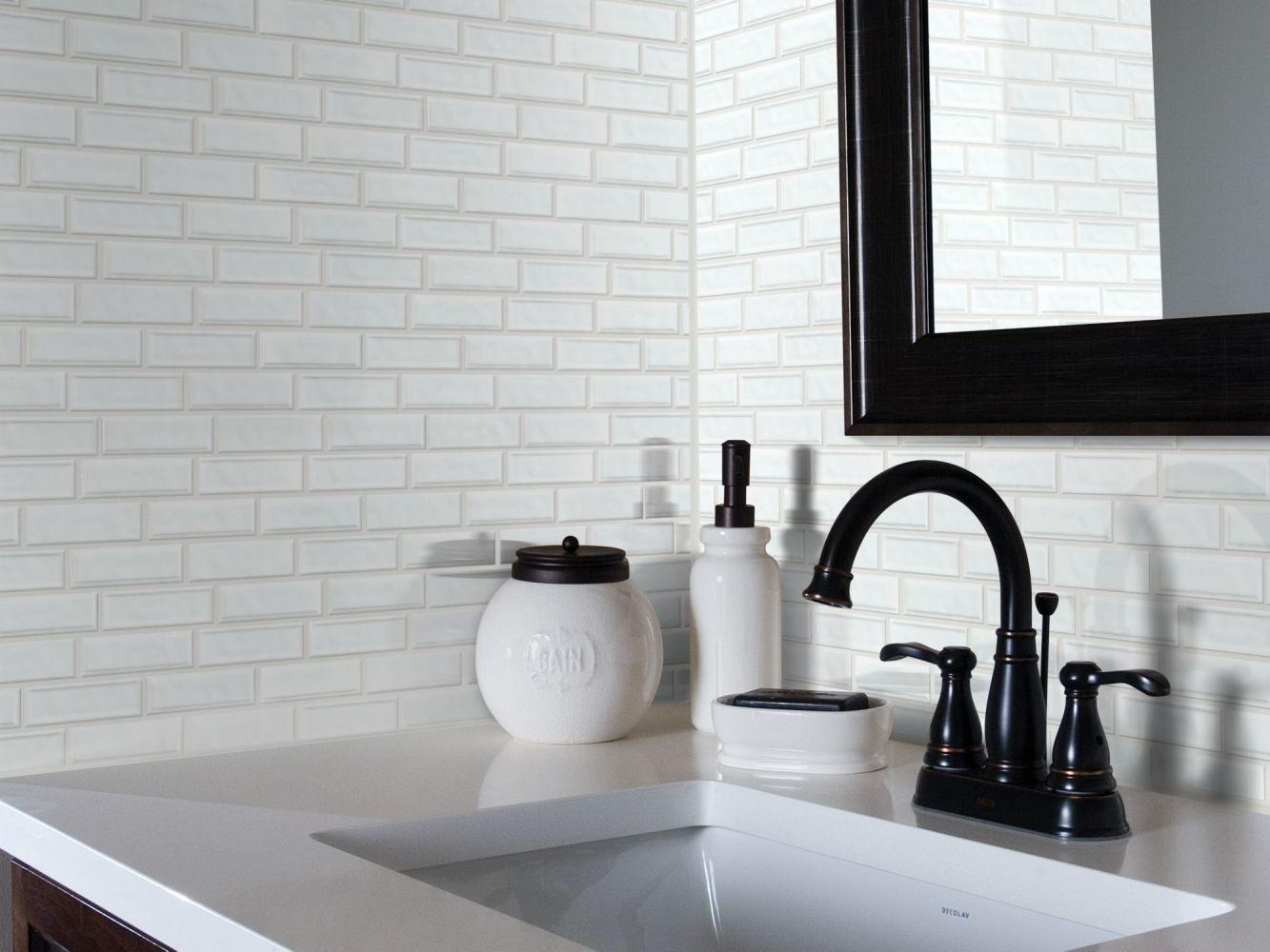Shaw Floors Toll Brothers Ceramics Geoscapes Random Linear Mosaic White 00100_TL45C