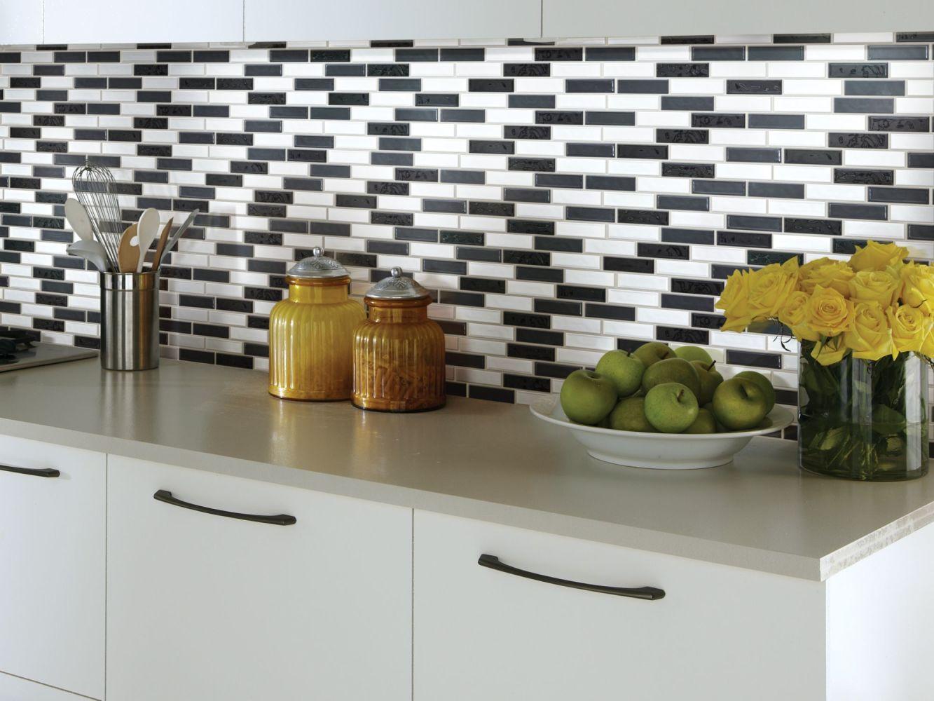 Shaw Floors Toll Brothers Ceramics Geoscapes Random Linear Mosaic Black/White Blend 00151_TL45C