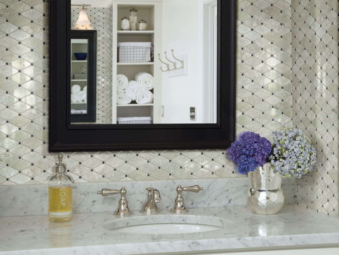 Shaw Floors Toll Brothers Ceramics Hamptons Diamond Plsh Mosaic Ritz Grey 00500_TL48B