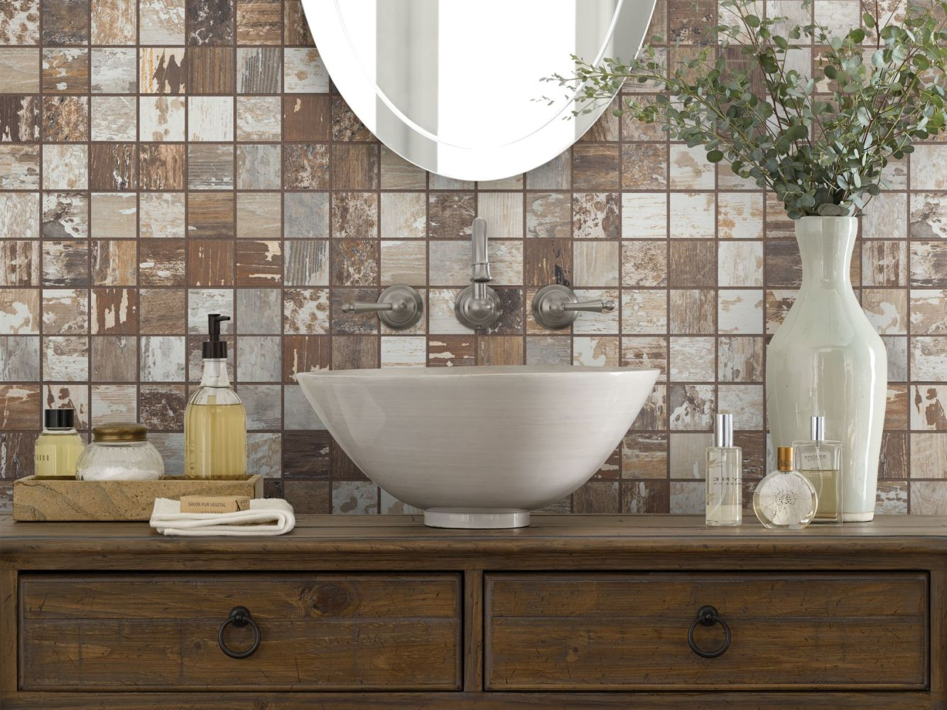 Shaw Floors Toll Brothers Ceramics Sleepy Hollow Mosaic Beech 00170_TL48C