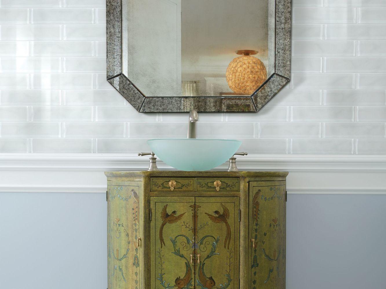 Shaw Floors Toll Brothers Ceramics Principal 3×12 Artisan Glass Ice 00100_TL73B