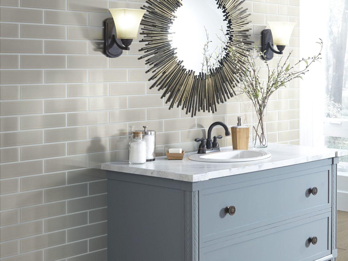 Shaw Floors Toll Brothers Ceramics Principal 3×12 Glass Tile 2 Mist 00250_TL74B