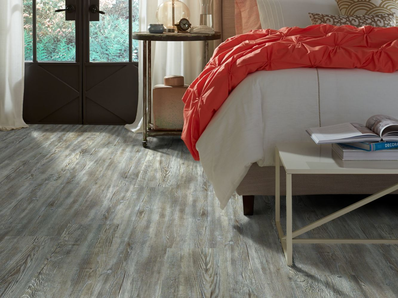 Shaw Floors Resilient Property Solutions Foundation Plank Weathered Barnboard 00400_VE180