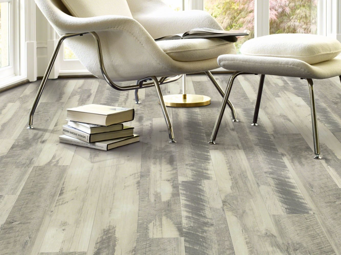 Shaw Floors Resilient Property Solutions Optimum 512c Plus Gray Barnwood 00142_VE210