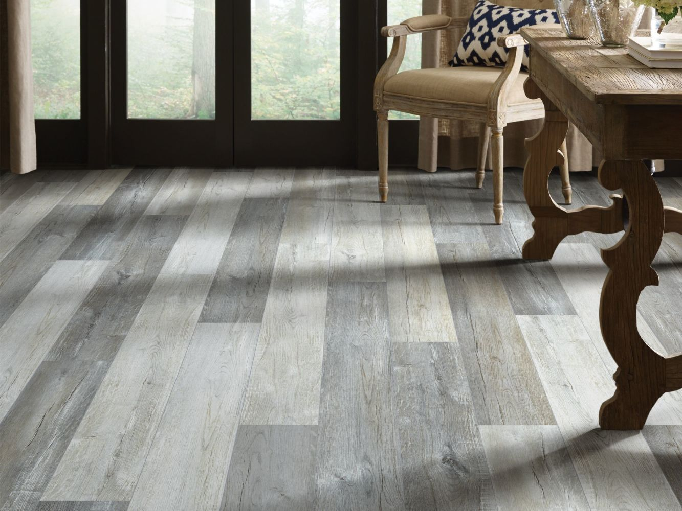 Shaw Floors Resilient Property Solutions Stature Plus Greyed Barnboard 05048_VE371