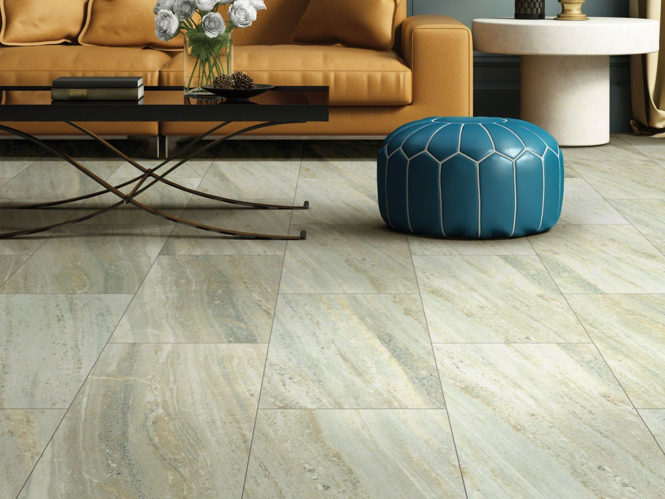Shaw Floors Nfa HS Beaver Creek Tile Boulder 00585_VH546