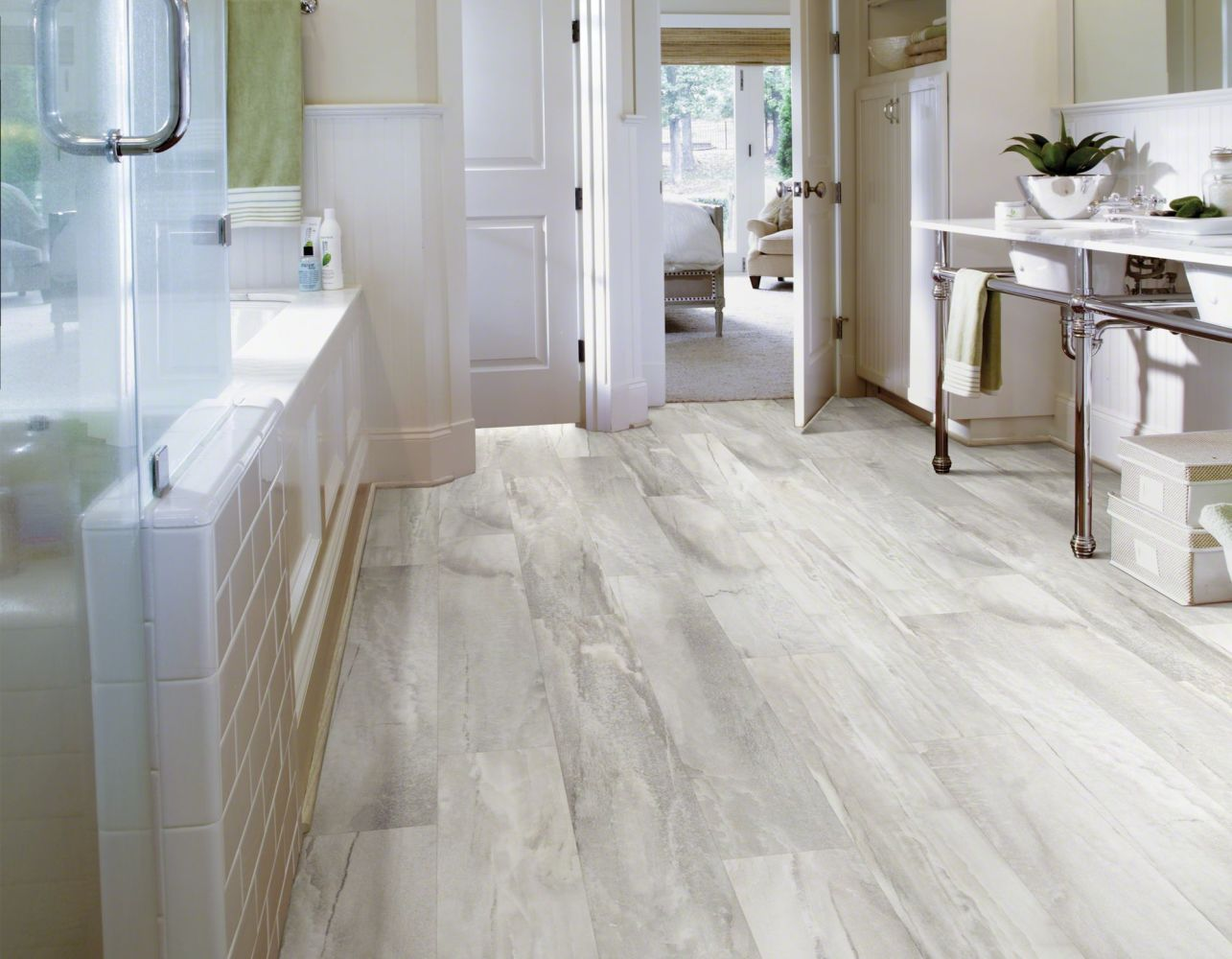 Shaw Floors Resilient Property Solutions Easy Fashion Coconut Milk 00163_VPS50