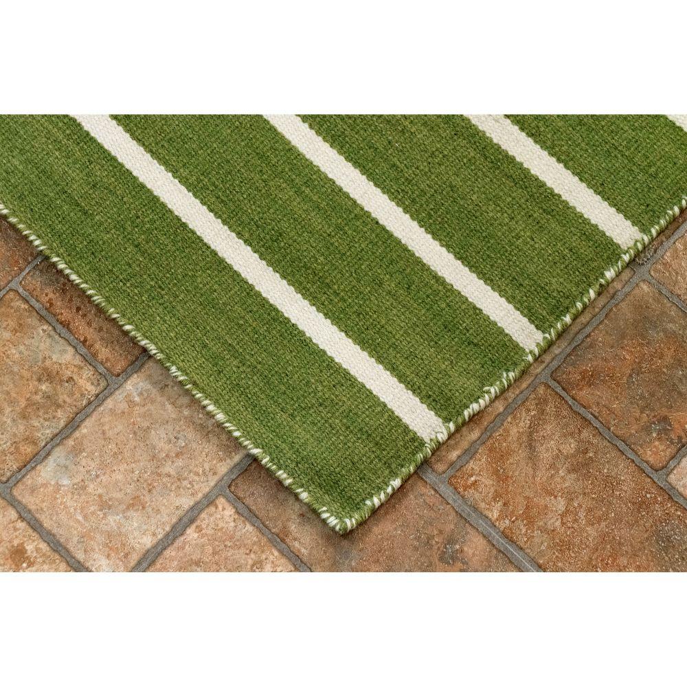 Liora Manne Sorrento Pinstripe Green 8'3″ x 11'6″ SRN81630506