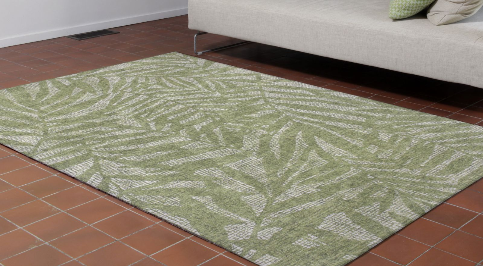 Liora Manne Savannah Olive Branches Green 5'0″ x 7'6″ SVH57950006