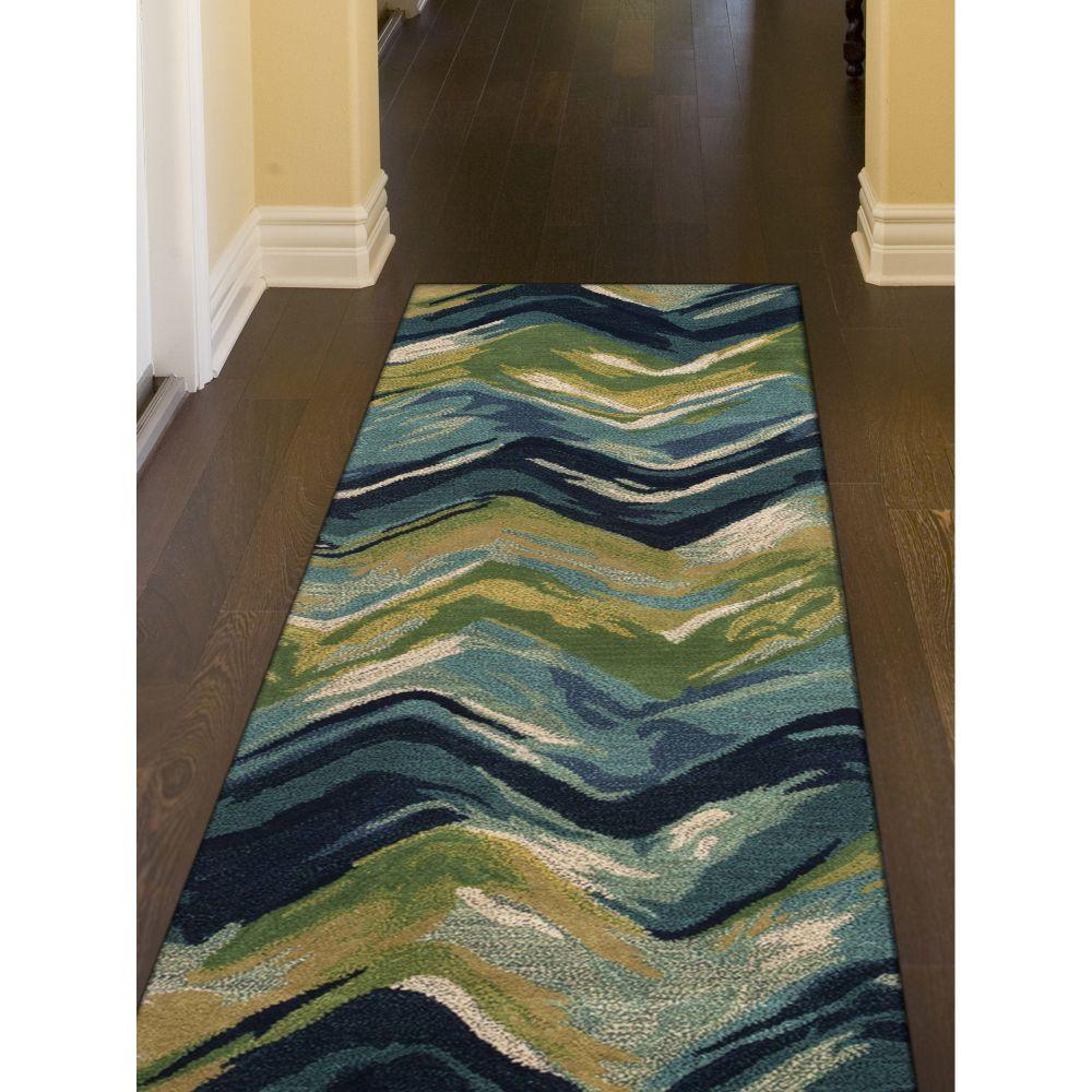 Liora Manne Tivoli Contemporary Blue 2'3″ x 8'0″ TIVR8810722