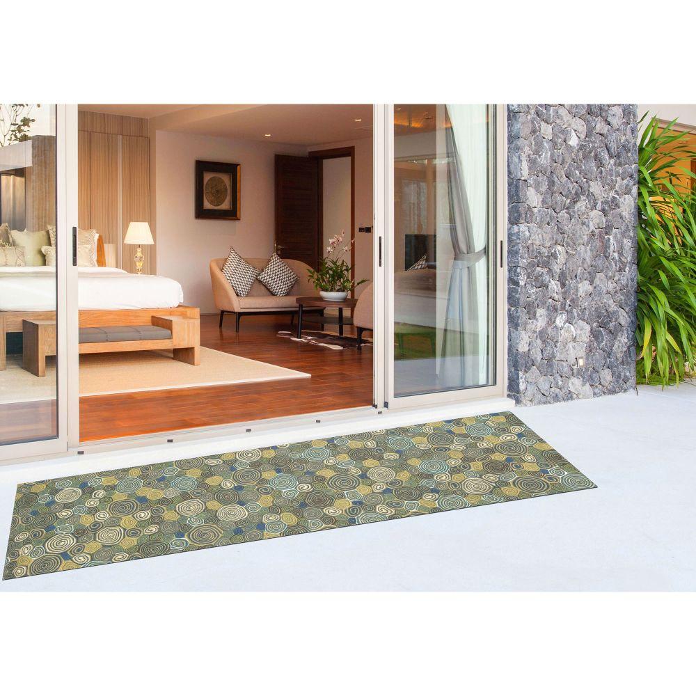 Liora Manne Visions III Contemporary Green 2'3″ x 8'0″ VEBR8310203