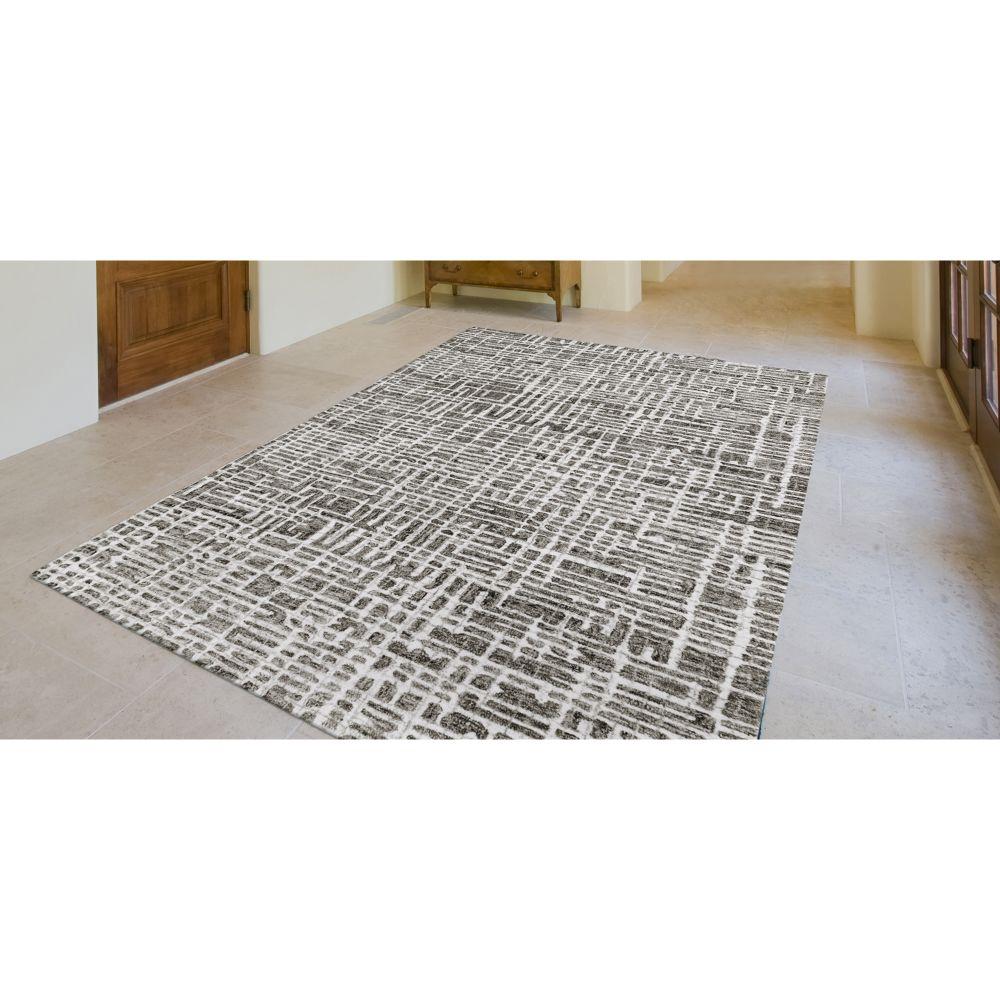 Liora Manne Savannah Grid Grey 5'0″ x 7'6″ SVH57951247