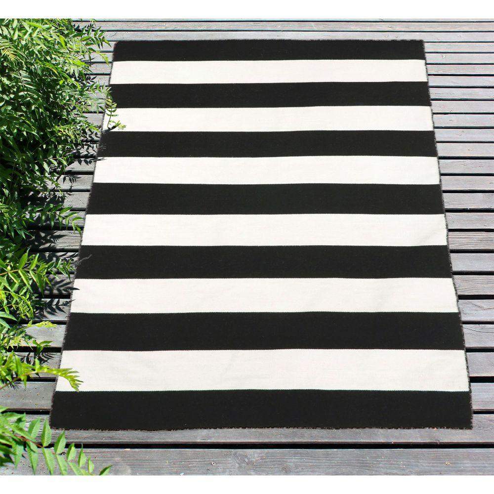 Liora Manne Sorrento Contemporary Black 5'0″ x 7'6″ SRN57630248