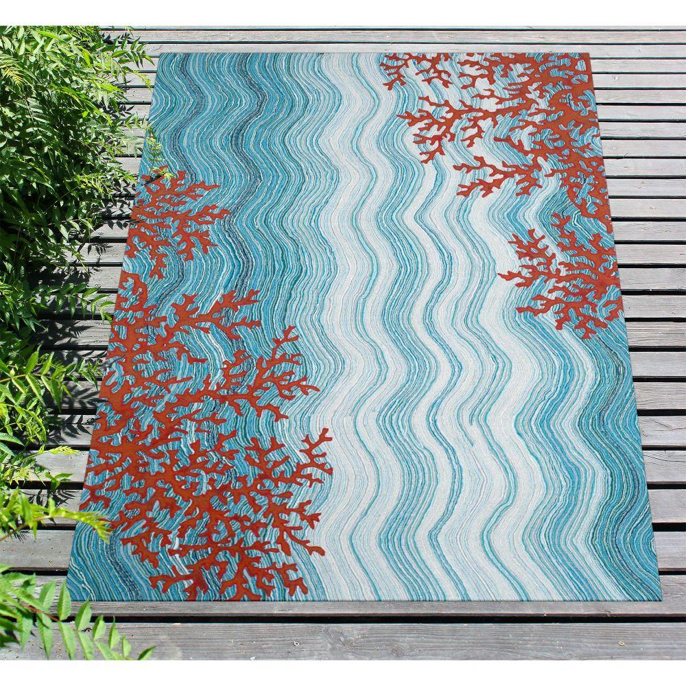 Liora Manne Visions Iv Casual Blue 5'0″ x 8'0″ VGH58325503