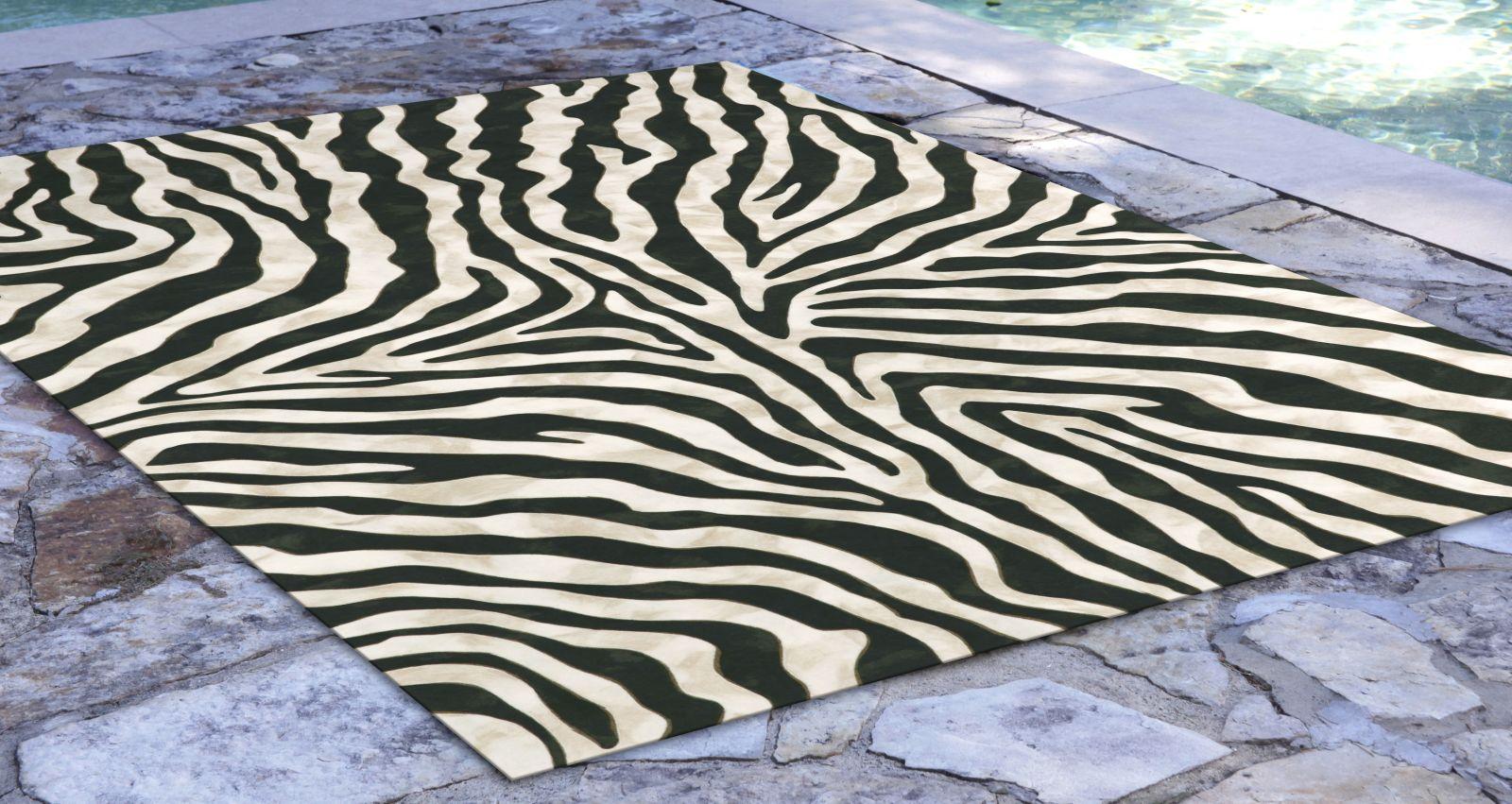 Liora Manne Visions I Contemporary Black 5'0″ x 8'0″ VAF58304348