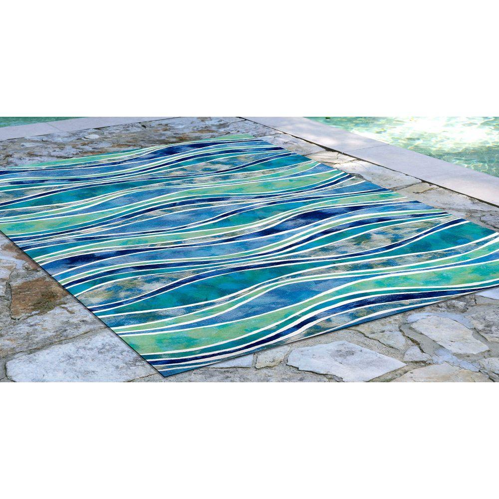 Liora Manne Visions III Contemporary Blue 3'6″ x 5'6″ VEB46312604