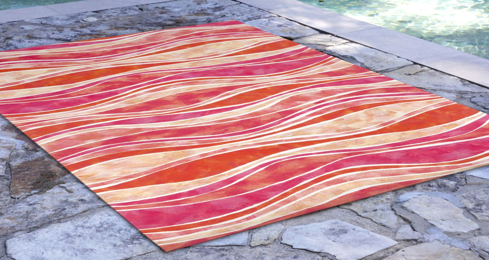 Liora Manne Visions III Contemporary Pink 8'0″ x 10'0″ VEB80312637