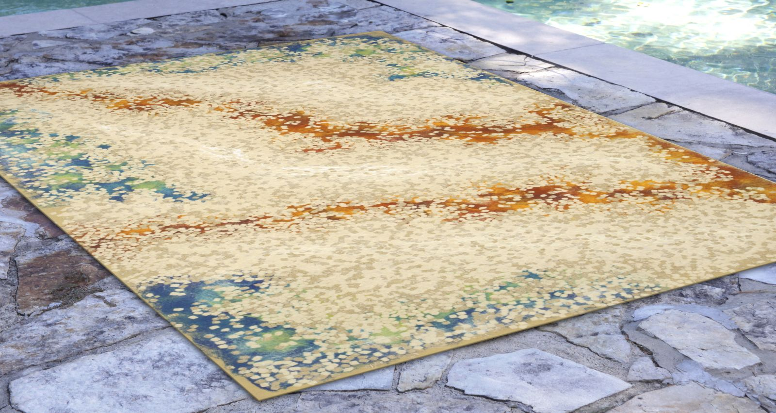 Liora Manne Visions Iv Contemporary Natural 3'6″ x 5'6″ VGH46412612