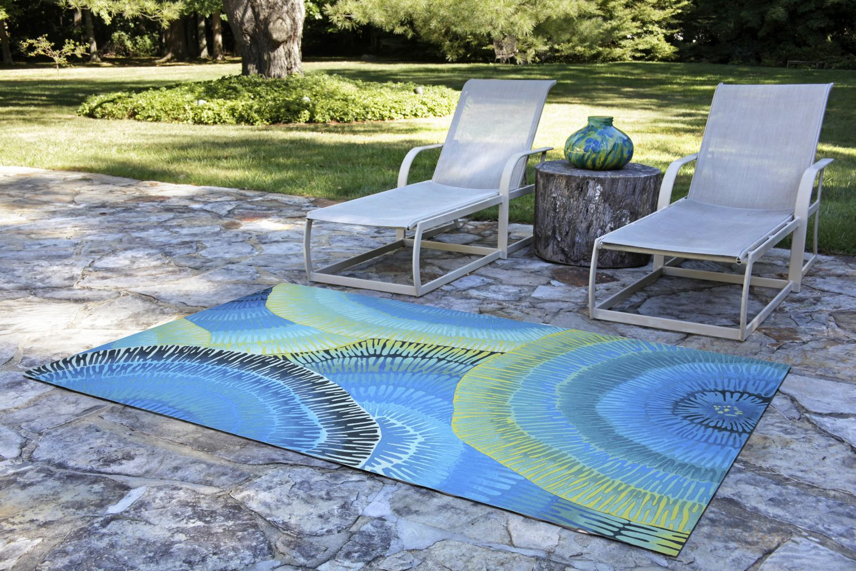 Liora Manne Visions Iv Contemporary Blue 3'6″ x 5'6″ VGH46430204