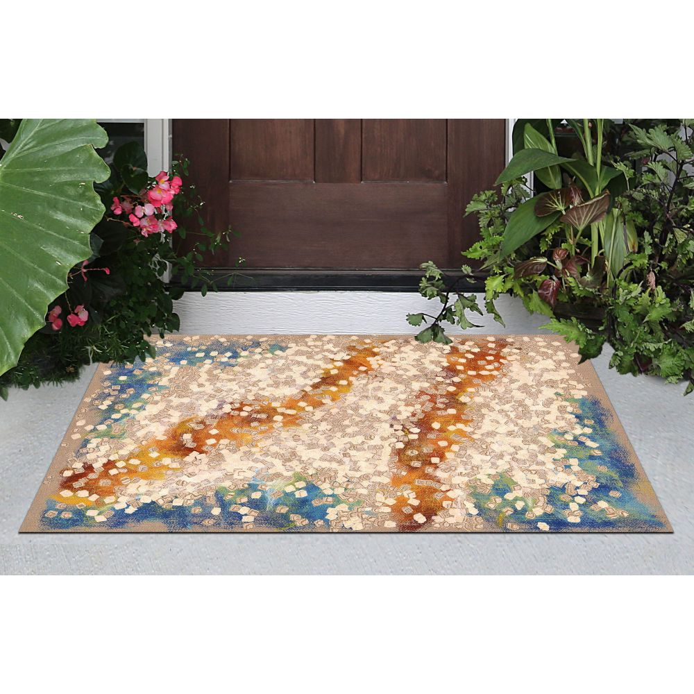 Liora Manne Visions Iv Contemporary Natural 2'0″ x 3'0″ VGH23412612