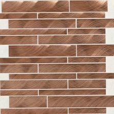 Daltile Structure Copper 12 x 12 Interlocking Mosaic ST711212MS1P