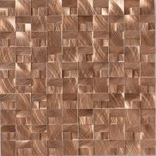 Daltile Structure Copper 1 X 1 3d Block Copper ST7111HLMS1P