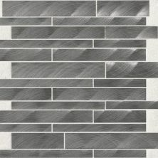 Daltile Structure Gunmetal 12 X 12 Interlocking Mosaic Gray/Black ST721212MS1P