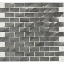 Daltile Structure Gunmetal 1 X 2 3d Brickjoint Gray/Black ST7212HLBJMS1P