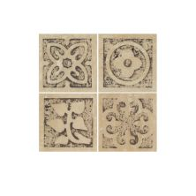 Daltile Fashion Accents Celtic Insert 2″ X 2″ (set Of 4) Beige/Taupe FA1622DOTS1P