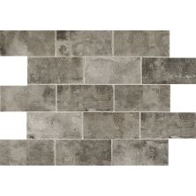 Daltile Brickwork Alcove Gray/Black BW04481P