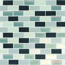Daltile Coastal Keystones Tropical Thunder 2 X 1 Brickjoint Mosaic Green CK8821BJPM1P
