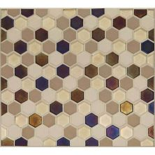 Daltile Coastal Keystones Sunset Cove Hexagon Mosaic Brown CK891HEXSWTCHCD