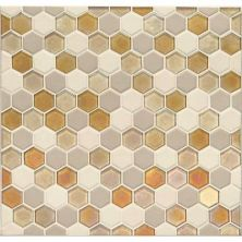 Daltile Coastal Keystones Island Harvest Hexagon Mosaic CK911HEXSWTCHCD