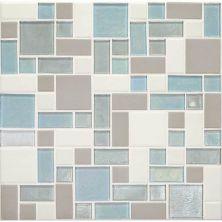 Daltile Coastal Keystones Mediterranean Mist Block Random Mosaic CK92BRSWATCHCD