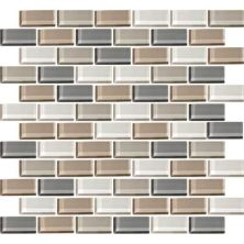 Daltile Color Wave Willow Waters Brickjoint Mosaic Beige/Taupe CW2121BJMS1P