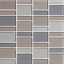 Daltile Color Wave Willow Water Block Random Mosaic Gray/Black CW21BLRANDMS1P