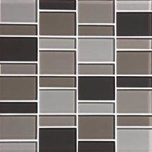 Daltile Color Wave Soft Cashmere Block Random Mosaic Gray/Black CW22BLRANDMS1P