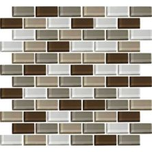 Daltile Color Wave Downtown Oasis Brickjoint Mosaic Beige/Taupe CW2321BJMS1P