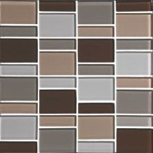 Daltile Color Wave Downtown Oasis Block Random Mosaic Gray/Black CW23BLRANDMS1P