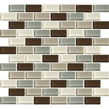 Daltile Color Wave Sweet Escape Brickjoint Mosaic Beige/Taupe CW2421BJMS1P