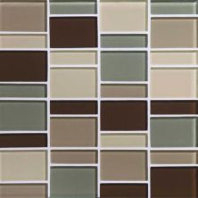 Daltile Color Wave Sweet Escape Block Random Mosaic Gray/Black CW24BLRANDMS1P