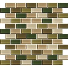 Daltile Color Wave Rain Forest Brickjoint Mosaic Green CW2521BJMS1P