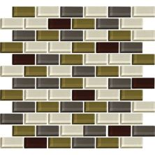 Daltile Color Wave Autumn Trail Brickjoint Mosaic Green CW2621BJMS1P