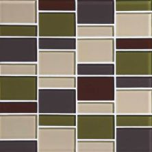 Daltile Color Wave Autumn Trail Block Random Mosaic Green CW26BLRANDMS1P