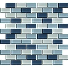 Daltile Color Wave Winter Blues Brickjoint Mosaic Blue CW2721BJMS1P