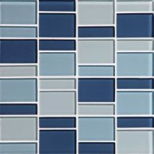Daltile Color Wave Winter Blues Block Random Mosaic Blue CW27BLRANDMS1P