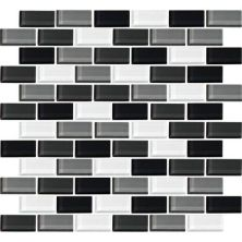 Daltile Color Wave Evening Mixer Brickjoint Mosaic Gray/Black CW2821BJMS1P