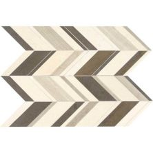 Daltile Limestone Collection Fusion Gris Large Chevron (honed) Beige/Taupe DA16LGCHEVMS1U