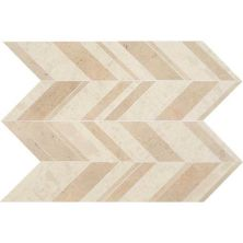 Daltile Limestone Collection Fusion Creme Large Chevron (honed) White/Cream DA17LGCHEVMS1U